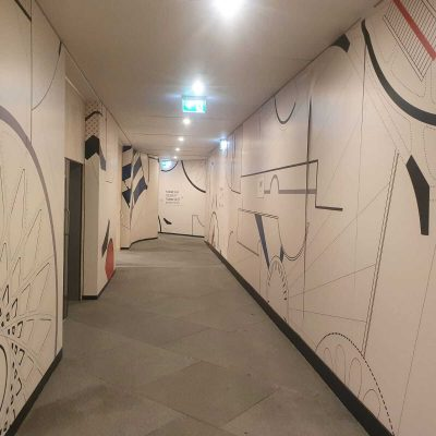Site Hoarding walkway